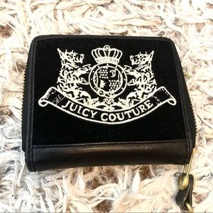 Juicy Couture Velvet Wallet Black White